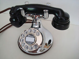 Antique Chrome  Round Western Electric 102 Telephone Works!