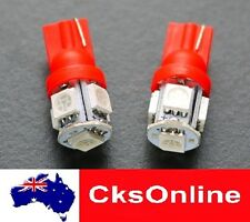 2x T10 194 168 501 W5W Red 5 SMD 5050 LED for Car Side light Bulb Lamp DC 12V