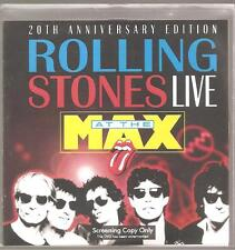 ROLLING STONES Live At The Max 20th Anniversary Edition Screening Copy Promo DVD