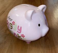 My First Piggy Bank Light Pink Pig Ceramic Piggy Bank Excellent Condition