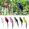 Realistic Parrot Ornament Bird Imitation Animal Outdoor Garden Lawn Tree Decor