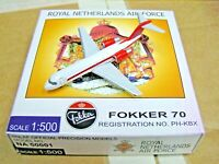 Herpa Wings 1:500 NA50001 RNLAF Royal Netherlands Air Force Fokker 70 PH-KBX