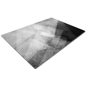 Glass Chopping Cutting Board Work Top Saver Large Black White Grey Geometric