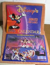 Walt Disney 1995 And 1996 Calendars - Wdw Resort and Animated Film Classics Look