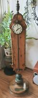 Warmink Gravity Clock 36 Hour 91cm High Cow Tail Front Pendulum Vintage