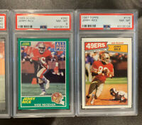 1987 Topps #115 & 1989 Score #292 All-Pro Jerry Rice PSA 8 NM-Mt SF 49ers Lot 2