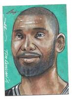 "2014 Leaf TIM Duncan sketch card True 1/1 by ""Jim Kyle"""