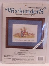 Birth Announcement Counted Cross Stitch Kit Weekenders The Flopsy Bunnies