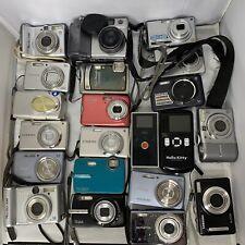 Lot of 21 Assorted Digital Cameras Olympus, Canon, Nikon, For Parts Or Repair