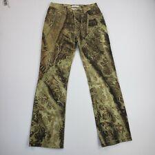 Roberto Cavaill Denim Green Reptile Jeans Slim Leg Ladies Pants size Small