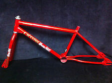 VERY RARE Red '84 CYCLE PRO GREG HILL COMPETITOR FRAME & FORK Old School BMX Set