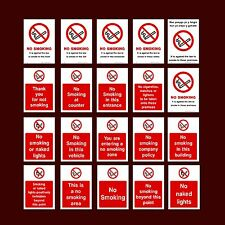 No Smoking / Against the law / Vehicle / Bar / Pub - Plastic Sign, Sticker