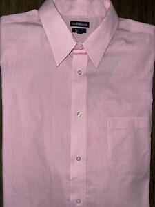 Mens Croft & Barrow Classic Fit Long Sleeve Button Up Shirt 17 1/2 34-35 - EUC