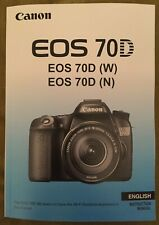 Canon EOS 70D Manual - Full Colour Pages Printed  Professionally Bound Size A5