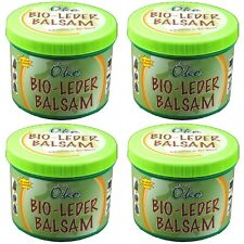 (18,95€/l) 4x Bio Lederbalsam Leder-Balsam 250 ml Lederpflege Pflege mit Schwamm