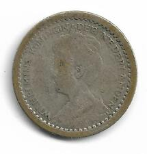Netherlands Queen Wilhelmina 10 Cents Silver Coin 1912 -- MUST L@@K!
