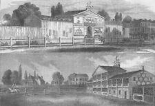 LAMBETH. Astley's Riding School, in 1770. London c1880 old antique print