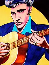 ELVIS PRESLEY PRINT poster martin acoustic guitar young man with a big beat cd
