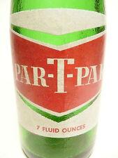 Vintage ACL Limonaden-Flasche: grüne PAR-T-Pak Version #2 - 7 OZ ACL.