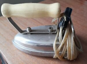 Vintage Electric Dry Iron with possible bakelite cream Handle 1930s or before
