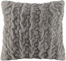 Madison Park Ruched Lodge/Cabin Faux-Fur Luxury Cozy Decorative Pillow