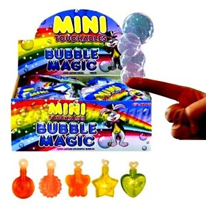 25 x CHILDRENS MINI TOUCHABLE BUBBLES TOYS BOYS GIRLS BIRTHDAY PARTY BAG FILLERS