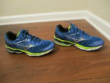 Used Worn Size 9 Mizuno Wave Creation 17 Shoes Blue Black Silver Lime White