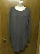 ATHLETA size S RECHARGE SWEATSHIRT DRESS   SOFT Lightweight Mushroom Brown KAS