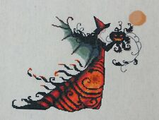 Completed Finished Cross Stitch Nora Corbett Mirabilia Bewitching Pixies Electra