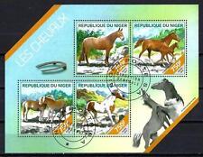 Chevaux Niger (50) série complète de 4 timbres oblitérés