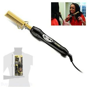 20 Setting Heat Heated Gold Comb Flattening Straightening Hair Care Styler Tool