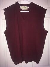 John Deere Maroon Sweater Vest, XL