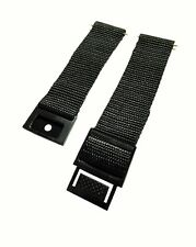 Timex 20mm Black Nylon Lightweight Watch Band With Snappy Buckle Fits Weekender