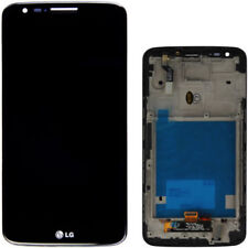 GLS DISPLAY +TOUCH SCREEN per LG OPTIMUS G2 D802 +COVER FRAME CORNICE VETRO NERO