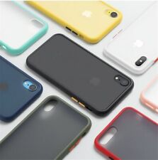 Shockproof Phone Case Back Cover For iPhone Luxury Translucent Soft Case