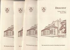 DESCENT Magazine SAG Complete Set Volume 30 in 4 parts 2000 March June Sept Dec
