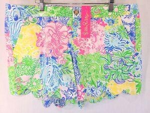 Lilly Pulitzer 16 Shorts Buttercup Stretch Short Multi Cheek To Cheek Scalloped