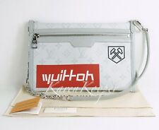 AUTH LOUIS VUITTON VIRGIL ABLOH MONOGRAM WHITE MARTIN LUTHER KING MESSENGER BAG