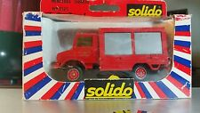 Solido Toner Gam I Mercedes Unimog Fire Engine #2125, 1:50, Die-cast NIB
