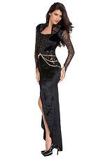 Halloween Costume Queen Of Darkness vestito lungo Dunkle MALE REGINA MALEFICENT