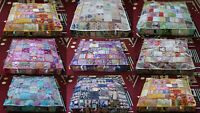 """35"""" Patchwork Large Floor Ottoman Pouf Cushion Pillow Cover Square Pet Dog Bed"""