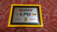 QUADRO LOGO Targa FERRARI 70 ANNIVERSARIO * Ferrari 70Th Anniversary *