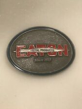 Eaton Metal Products Silver Tone Metal Belt Buckle.