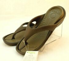 New CROCS Athens Men's Size 8 / Women's 10 Chocolate Color Comfort Flip Flops