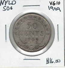 Canada Newfoundland NFLD 1909 50 Cents VG10