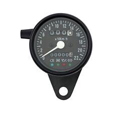 Mini Contachilometri Tachimetro Speedometer LED Nero 2:1 Harley Triumph Kawasaki