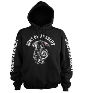 Officially Licensed Sons Of Anarchy Logo Hoodie S-5XL Sizes
