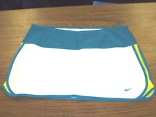 NIKE FitDry Women's Skort White, Teal, & Yellow Size L (12-14) EUC Tennis Golf