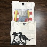 Lot Of 2 VTG 90s T Shirt XL Bruce Springsteen Tour Double Sided Graphic Tee