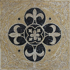 Exquisite Fleur De Lys Mural Art Home Decoration Marble Mosaic GEO2493